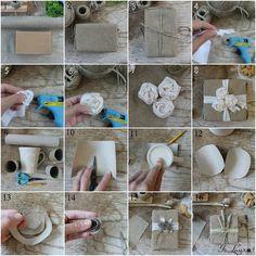 Pacchi regalo rustici con materiali naturali e di riciclo – Is laura