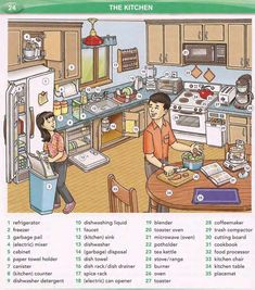 Learning the English vocabulary for kitchen appliances English Reading, English Fun, English Games, English Study, English Lessons, Learn English, English Vocabulary Words, English Phrases, English Words