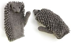 Do you love knitting? Try these lovely hedgehog mittens in this winter. It may need a bit more time for these hedgehog mittens, but it's totally worth it. They will keep your hands warn. Knitting Kits, Knitting Projects, Knitting Patterns, Cowl Patterns, Knit Mittens, Mitten Gloves, Mittens Pattern, Fashion Kids, Hand Warmers