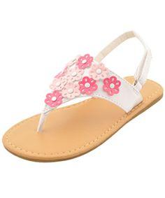 "Rugged Bear Girls ""Angelica"" Sandals (Toddler Sizes 5 – 10) - CookiesKids.com"