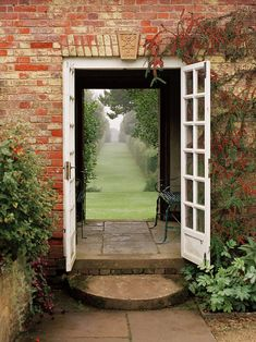 Door to the garden, Cotswolds, England