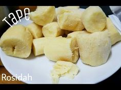 Resep Cara membuat Tape Singkong - YouTube Indonesian Desserts, Indonesian Food, Resep Cake, Tape, Dessert Recipes, Medan, Scones, Waffles, Youtube
