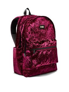New PINK Victoria's Secret Victoria's Secret PINK Velvet Campus Backpack Ruby online. [$79.99] topbrandsclothing Fashion is a popular style