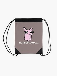 'No' Drawstring Bag by HeroNurse Cute Designs, Woven Fabric, Drawstring Backpack, Fashion Accessories, Backpacks, Poster, Stuff To Buy, Bags