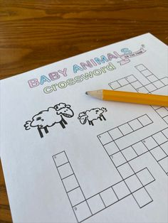 Free printable crossword - Learn about farm animals and their babies with this fun crossword. Answers are included for early spellers. Great for students in grades 1 or Agriculture Information, Crossword, Farm Animals, Free Printables, Students, Bullet Journal, Classroom, Babies, Education