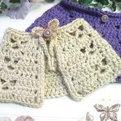 Butterfly Capelet Crochet  - via @Craftsy