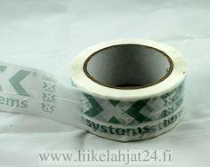Pakkausteippi logolla - http://www.liikelahjat24.fi/fi/otsing?keyword=pakkausteippi