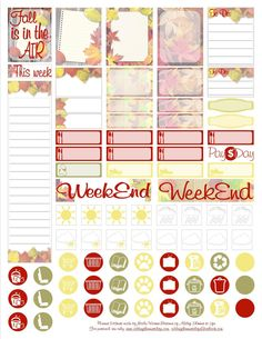 Free Printable Fall Planner Stickers for the ECLP - Adding Shimmer to Life