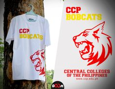 A regular client. Central Colleges of the Philippines t-shirt.