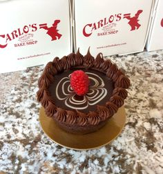 Rich and chocolatey! #chocolatetruffle #carlosbakery