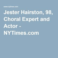 43 Best Jester Hairston Images Actors Actresses Biography Books