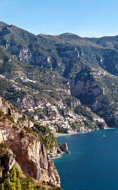Cliffside towns along the spectacular Amalfi Coast, Italy