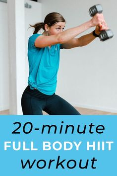 Full Body HIIT Workout for Women Nourish Move Love is part of fitness - AtHome, Full Body HIIT Workout for women; including the 9 best HIIT exercises! This HIIT Workout Video alternates dumbbell strength training Hiit Workout Videos, Full Body Hiit Workout, Hiit Workout At Home, Body Workouts, Cardio Workouts, Workout Ball, Hiit Interval, Workout Kettlebell, Hitt Workout