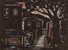 Oswaldo Goeldi, Crepúsculo, 1950-51