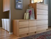 Bedside tables : MALM Bedside Table With 2 Drawers, White stained oak