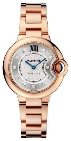 e890ad83373 Cartier Ballon Bleu WE902039 Silver Dial 18K Rose Gold 33mm Watch