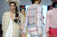 MARIA VYTINIDOU SS COLLECTION INSPIRED BY PEROU, CRETAN WEAVING ART AND SILK FROM SOUFLI Catwalk Mag ® | Athens Xclusive Designers Weaving Art, Athens, Summer Collection, Catwalk, Kimono Top, Cover Up, Designers, Spring Summer, Inspired