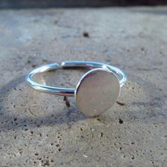 Disk Ring Blanks Sterling Silver 16 Gauge ADJUSTABLE