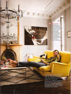 dream yellow sofa