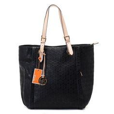 Michael Kors Black Monogram Leather