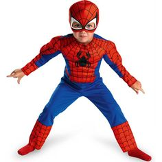 Spiderman Toddler Size: 3T-4T (Red/Blue) - See more at: http://halloween.florenttb.com/costumes-accessories/spiderman-toddler-size-3t4t-redblue-com/