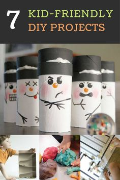 Kid-friendly DIY projects are a lifesaver on both snowy and summer days. These 7 simple DIY craft ideas will keep even the youngest in your household busy for hours at a time. Inspire your kids' creativity and activity with one of these fun DIY projects. Kids Crafts, Christmas Crafts For Kids, Christmas Fun, Holiday Crafts, Summer Crafts, Easy Crafts, Toilet Tube, Kids Toilet, Paper Towel Tubes