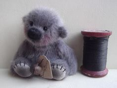This little boy keeps popping up. I'm not big on soft toys but boy he's cute!   Miniature Bear by Barney Bears by BarneyBears4u on Etsy