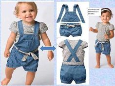 Jardineira Infantil Jeans 2x1 Importada Feminina