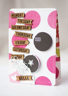 Sandra Dietrich - mojosanti * Karten mit dem Januarkit 2015 der Scrapbook  Werkstatt * Hello everyday * Some fresh cards