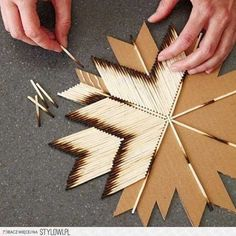 Match stick art