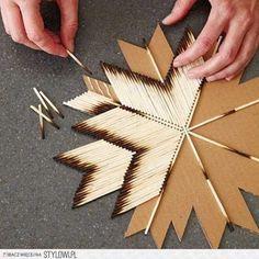 Match stick art