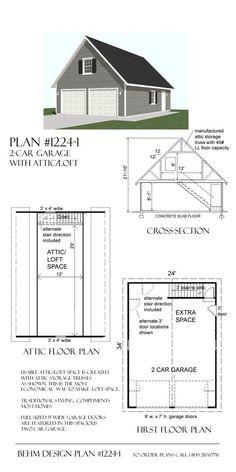80 Meilleures Idees Sur Plan Garage Plan Garage Garage Garage Detache