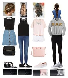 """""""Random Outfits of the Day"""" by rileyadewitt on Polyvore featuring Simone Rocha, Frame Denim, Boohoo, rag & bone, Topshop, H&M, AG Adriano Goldschmied, Givenchy, Vans and Converse"""