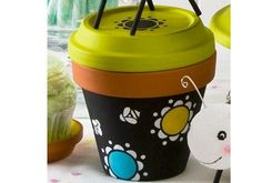 Handmade Charlotte Black and White Party Pot with Lid