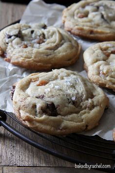 Salted Caramel and Chocolate Chunk Cookies