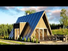 Affordable DUO75 A-frame House Can Be Built by Just Two People - YouTube