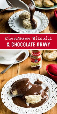 This classic southern dessert recipe is a real treat – especially when served for breakfast! Whip up a quick chocolate gravy on the stovetop, with McCormick Pure Vanilla Extract and chocolate chips. Drizzle over cinnamon biscuits, pancakes or pound cake. Southern Desserts, Just Desserts, Delicious Desserts, Yummy Food, Southern Dishes, Southern Recipes, Breakfast Dishes, Breakfast Recipes, Dessert Recipes