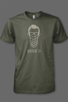Created for the 2016 Bearded Brewfest we're excited to bring to all of you this original designed for those craft beer lovers who also love their beards ;) This design is screen printed on an army, 100% cotton t-shirt.