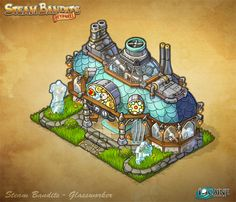 Steam Bandits Outpost Building - Glassworker by *Shattered-Earth on deviantART