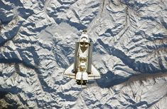 Space shuttle over the andes mountains - NASA