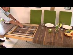 Table Mechanisms Pedestal Rectangular Extending Dining Tables 2 - YouTube