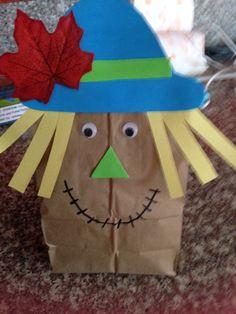 Paper bag scarecrow