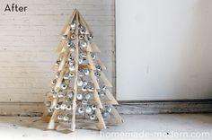 Make It: DIY Modern Wooden Christmas Tree