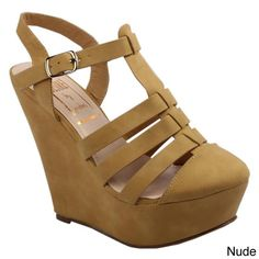 Jacobies Women's 'Tango-6' Strappy Platform Wedge Sandals   Overstock™ Shopping - Great Deals on JACOBIES Wedges
