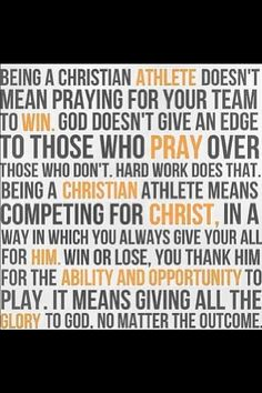 Christian athlete