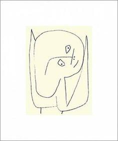 Engel voller Hoffnung, 1939 von Künstler Paul Klee als gerahmtes Bild