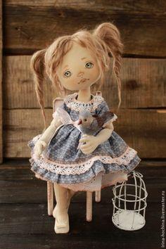 Купить Родная душа - голубой, кукла ручной работы, кукла, кукла в подарок, кукла ♡интерьерная