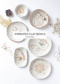 12 NOVEMBER DIYs – Imprinted Clay Bowls