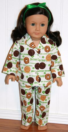 AMERICAN GIRL DOLL Clothes Scout Cookies Pajamas by mamastwinsees