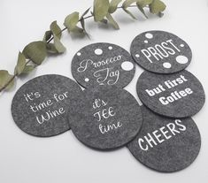 Silhouette Cameo Freebies, Silhouette Cutter, Tile Crafts, Wine Tags, Wine Parties, Textiles, Mug Rugs, Free Prints, Prosecco
